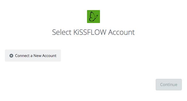 Select KiSSFLOW Account