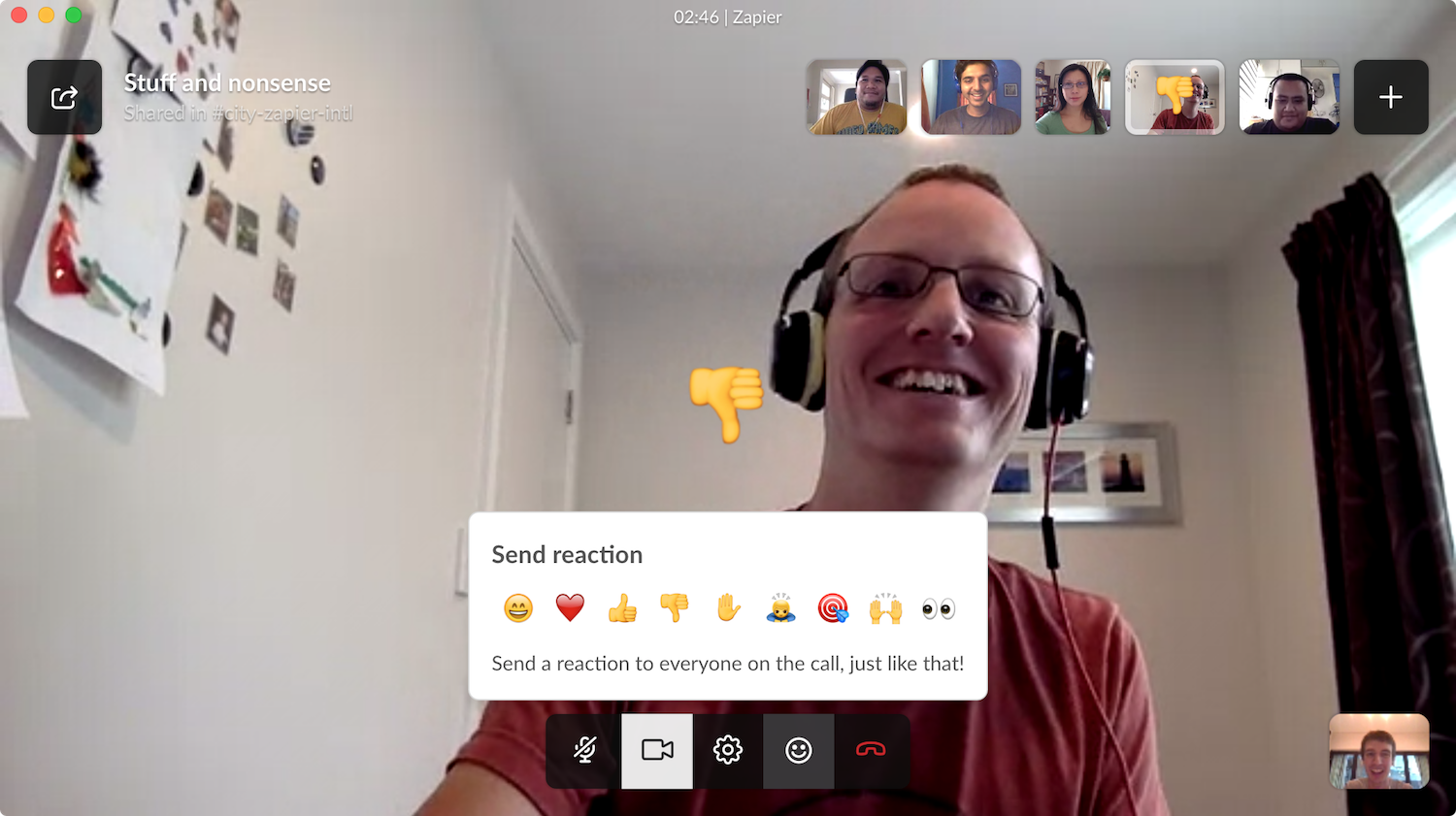 Video conference with your teammates easily through Slack