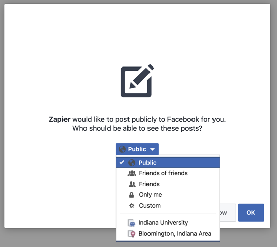 Authorize Facebook Groups on Zapier