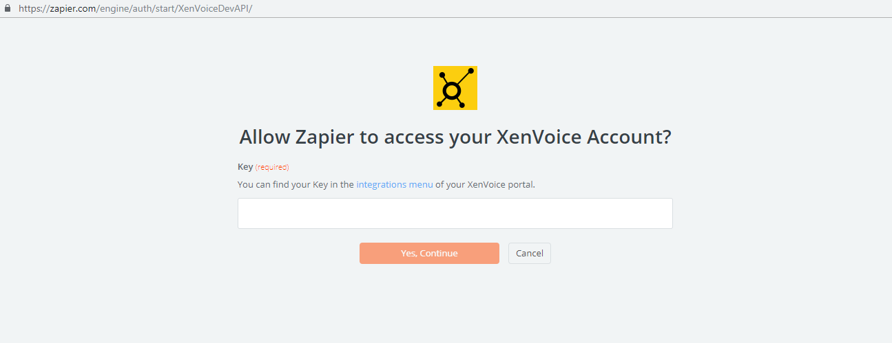XenVoice API Key