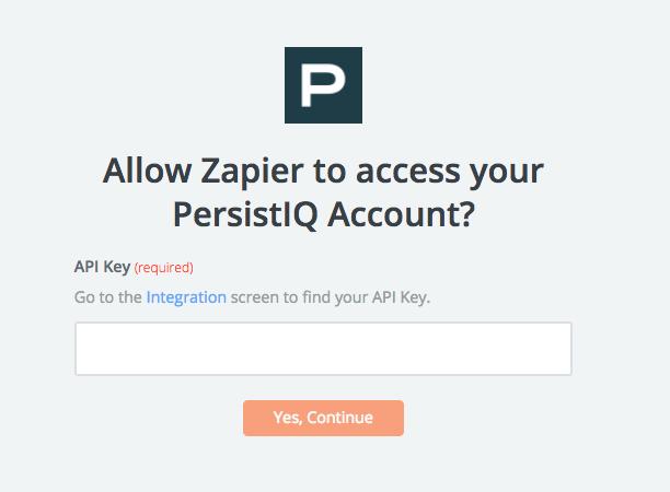 PersistIQ API Key