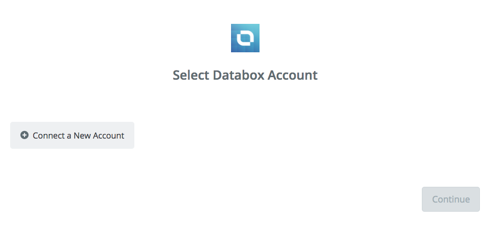 Click to connect Databox