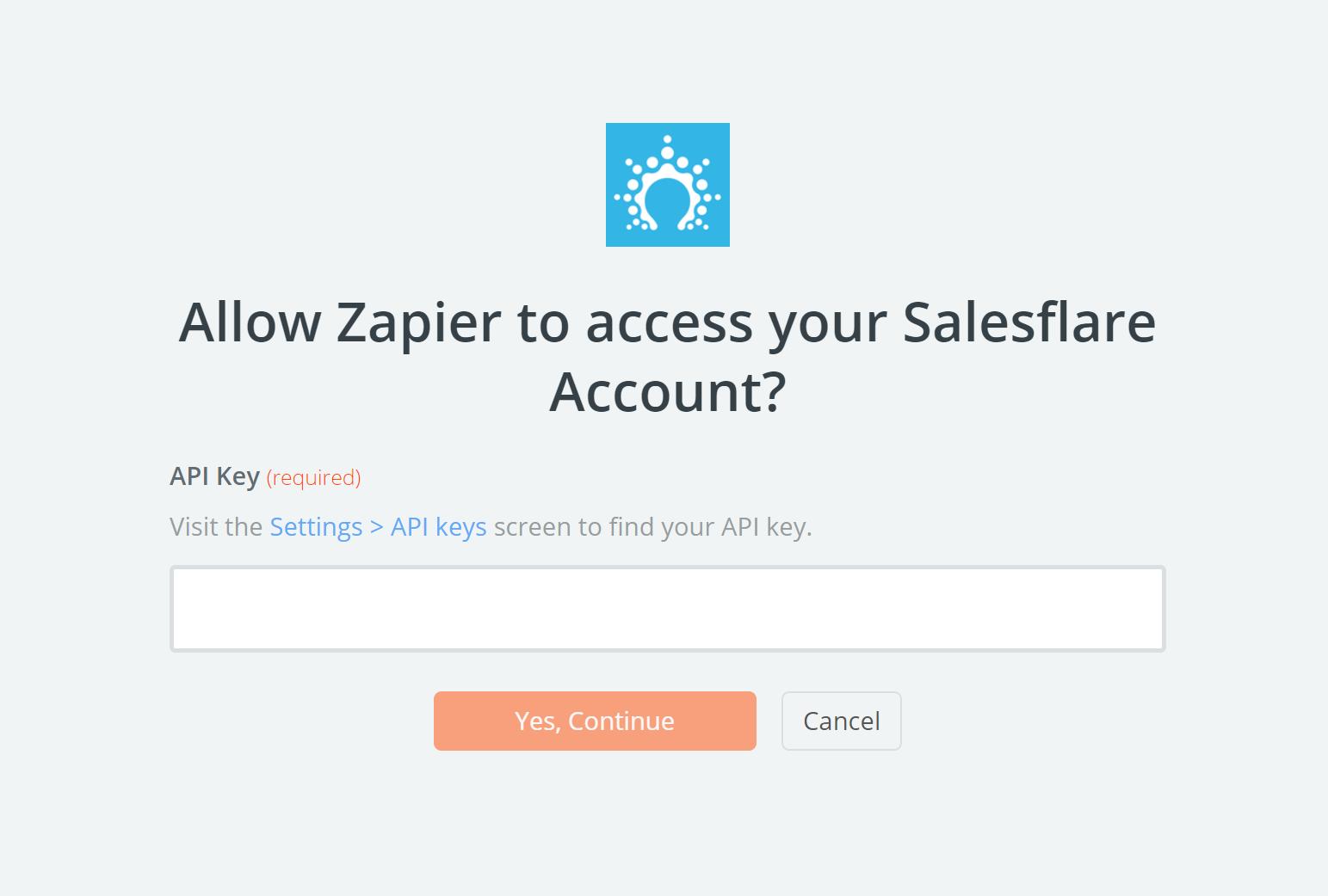 Salesflare API Key