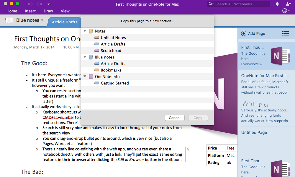 Use onenote templates to streamline meeting class for Onenote section template