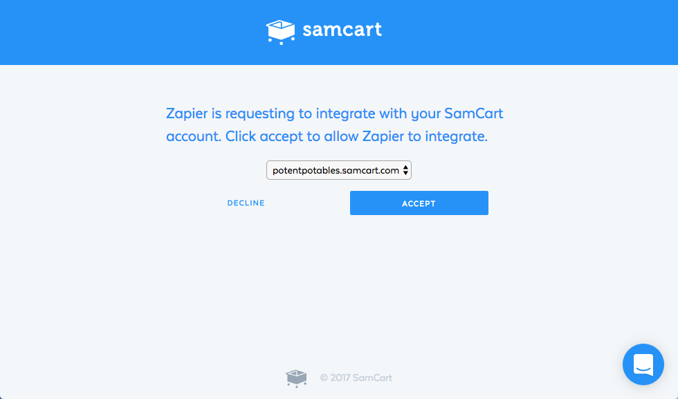 Authorize  SamCart on Zapier