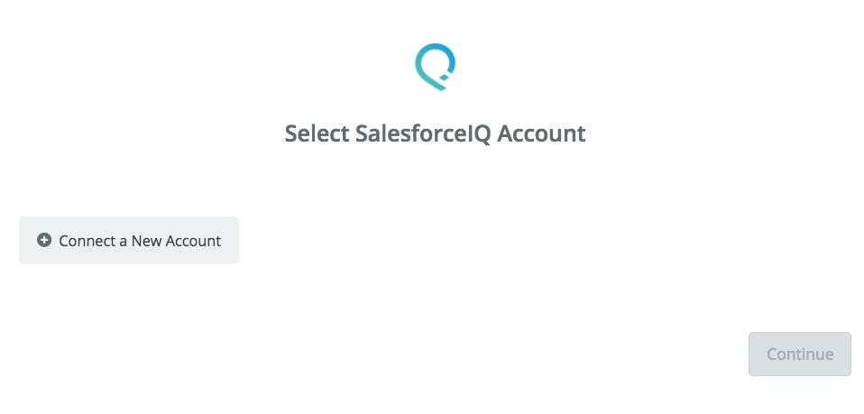 Click to connect SalesforceIQ
