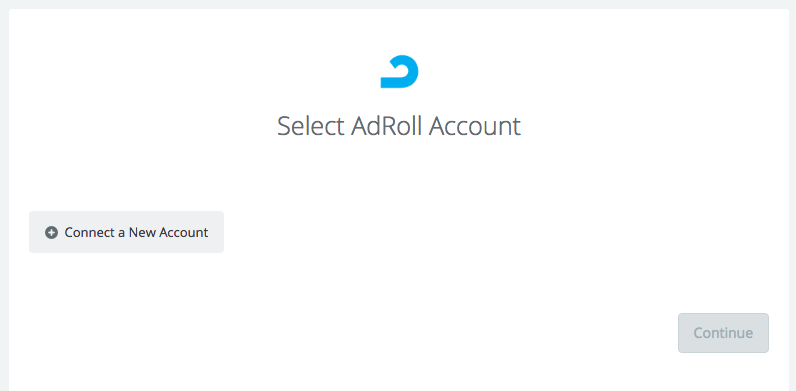 Click to connect AdRoll