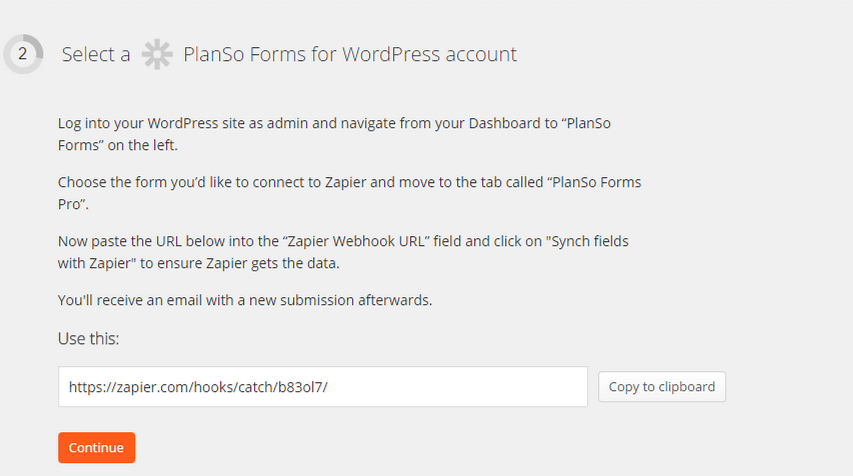 Select a PlanSo Forms for WordPress account