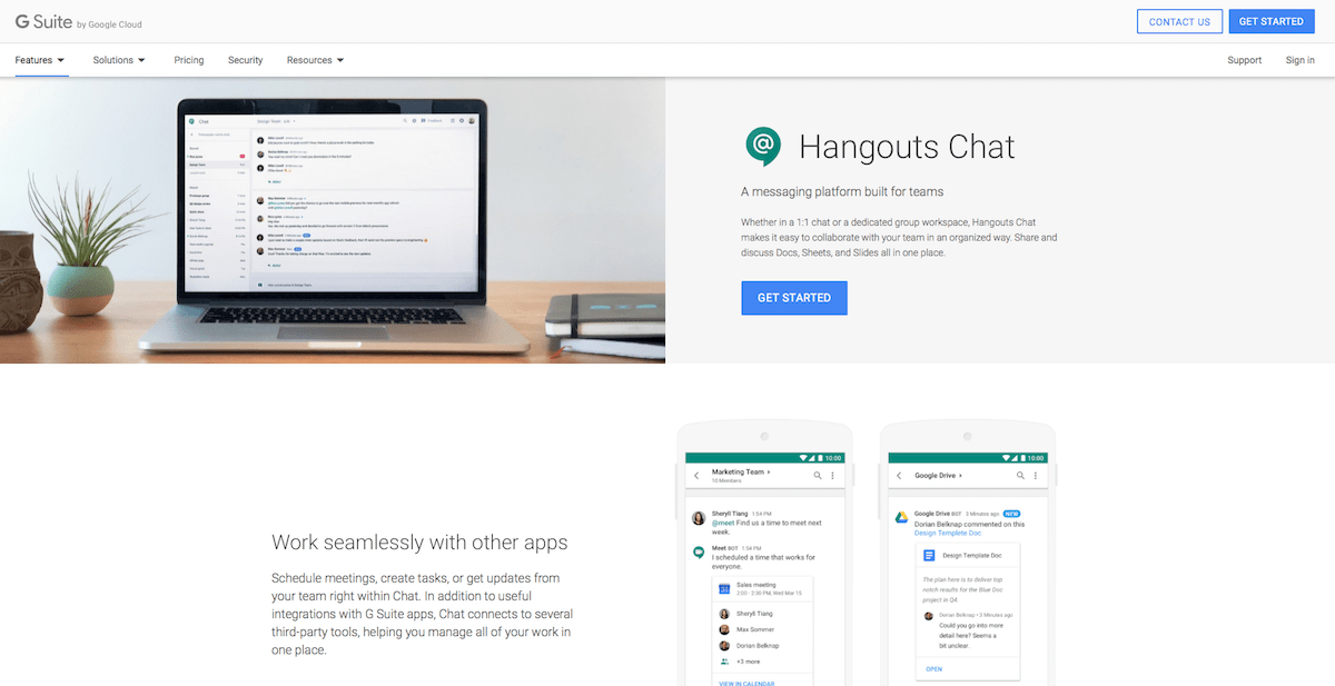 Google Hangouts Chat - Features, Pricing, Alternatives, and More ...