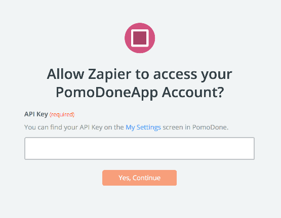 PomoDoneApp API Key