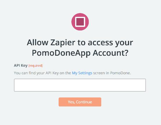 PomoDoneApp - Integration Help & Support | Zapier