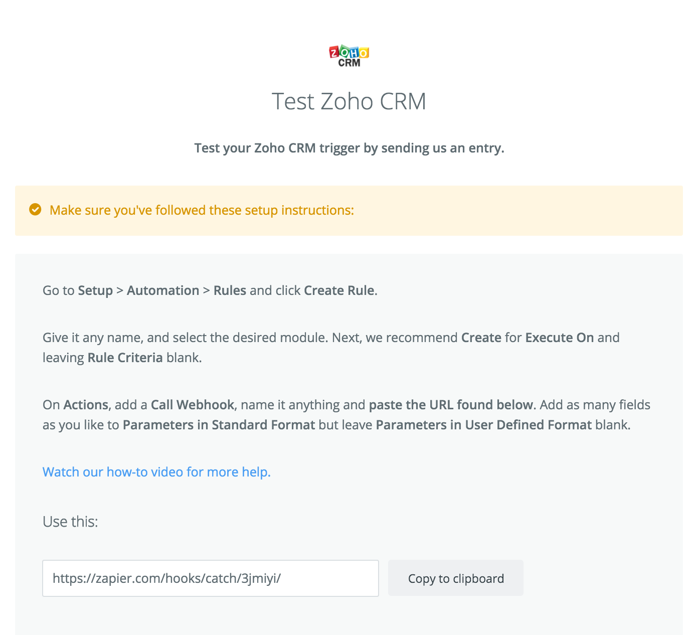 connected to Zoho