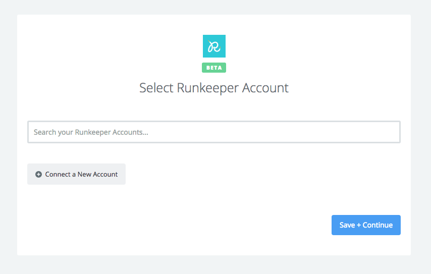 Click to connect your Runkeeper account
