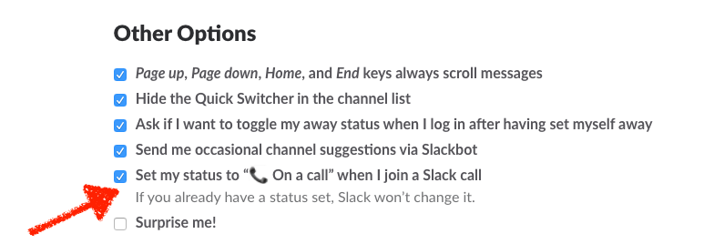 Automatic on call status Slack