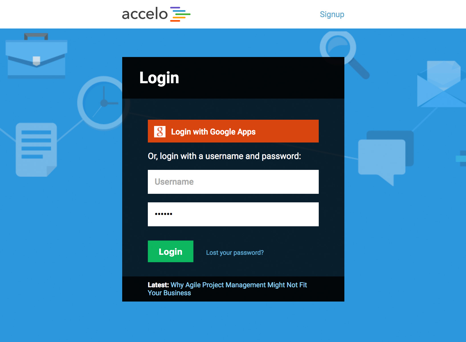 Login to Accelo