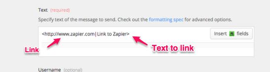 link in Zapier
