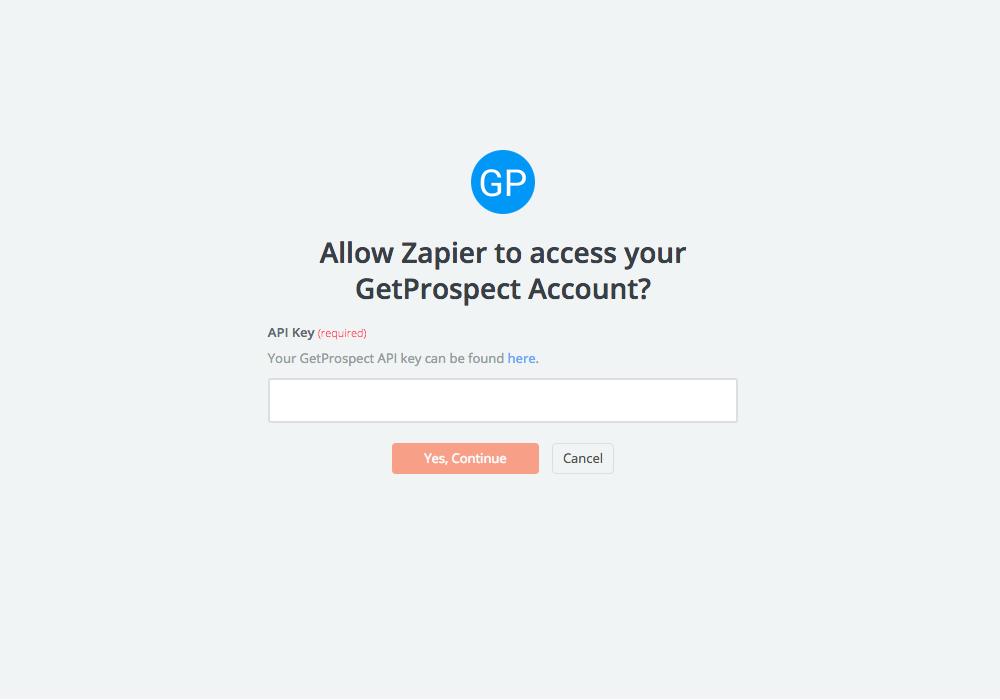 GetProspect API Key