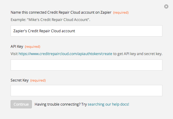 Finding your Credit Repair Cloud API Key