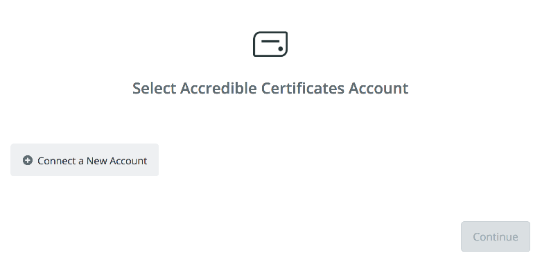 Click to connect Accredible Certificates