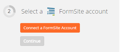 Connect a FormSite account