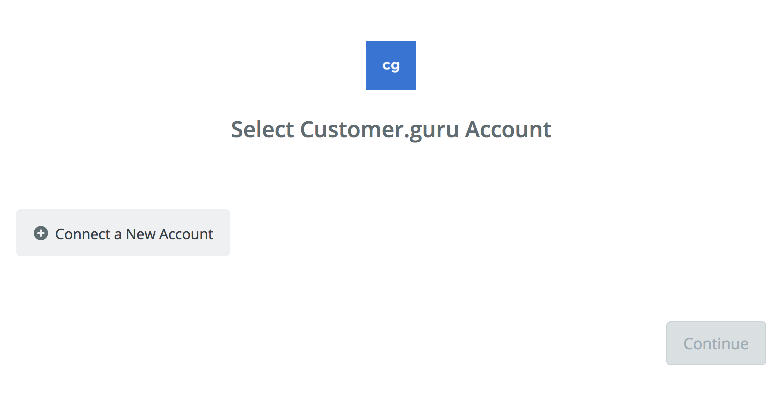 Click to connect Customer.guru