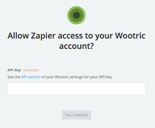 Wootric API Key