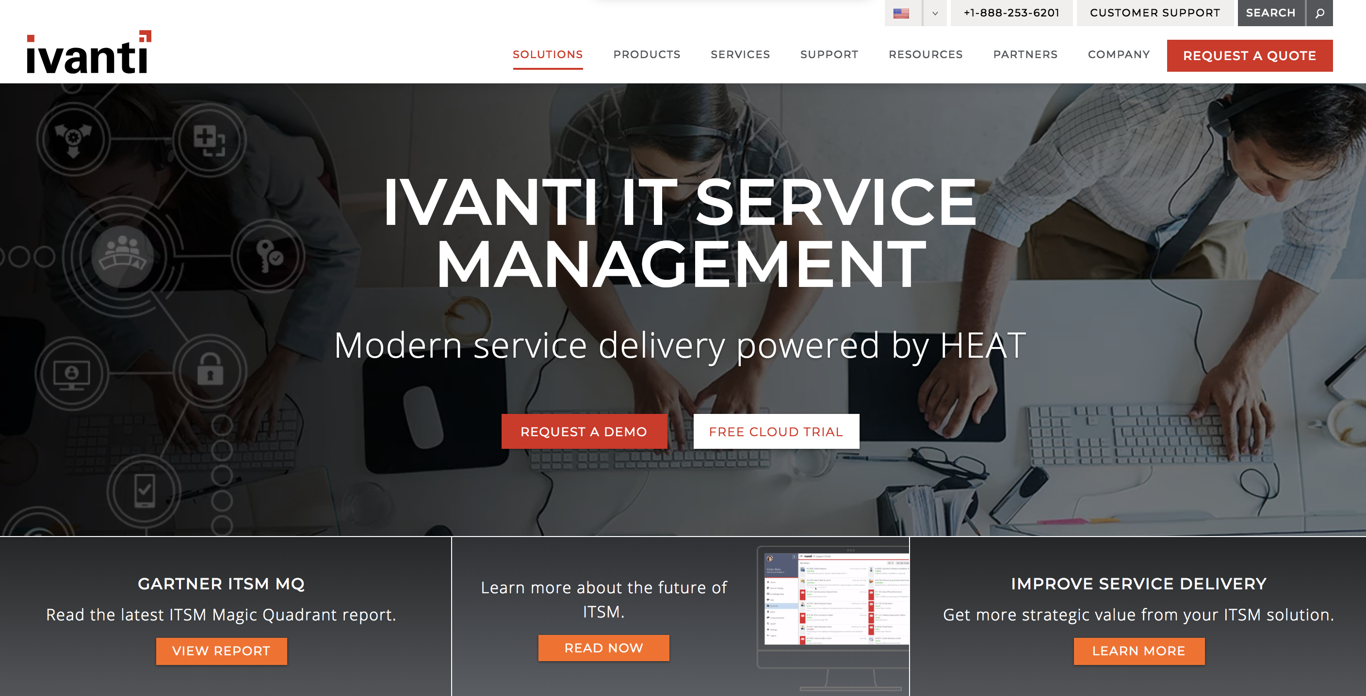 Ivanti Service Manager home page