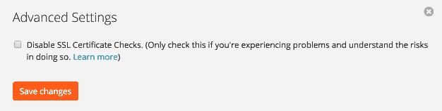 Disable SSL Certificate Checks on Zapier