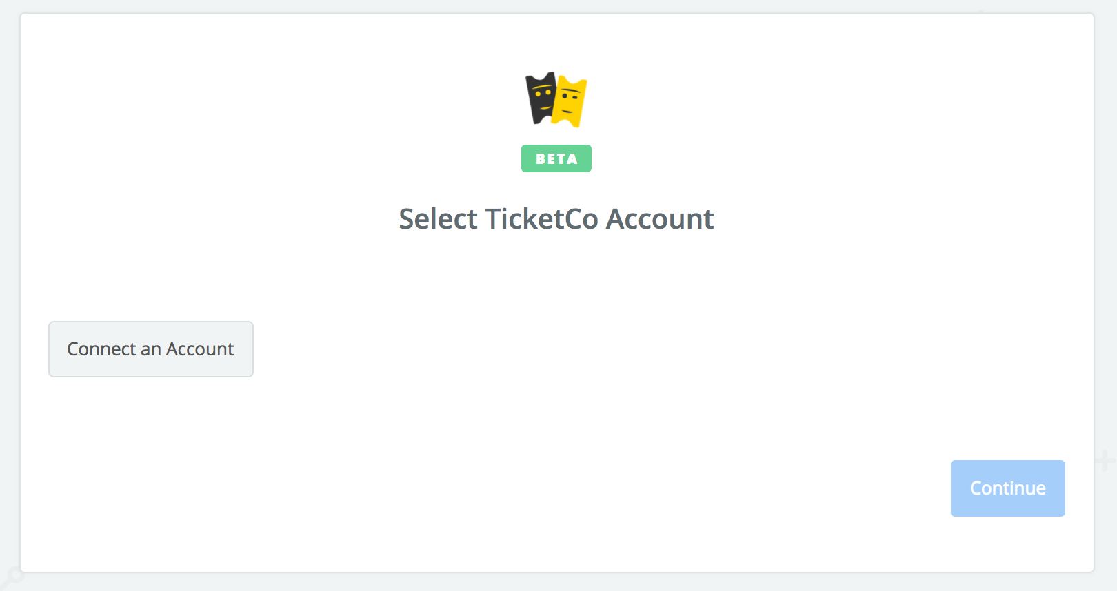 Click to connect TicketCo