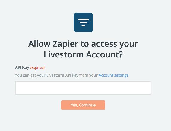 Livestorm API Key