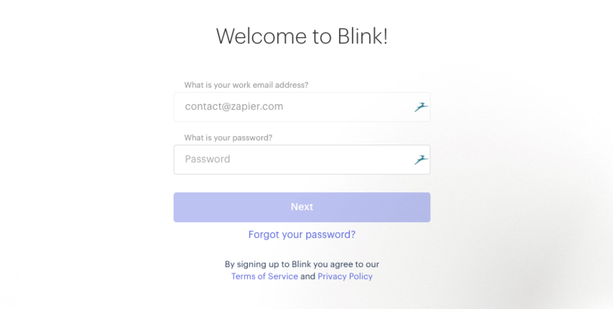 Login to Blink