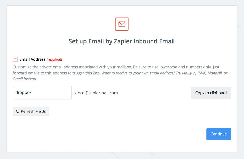 Zapier Custom Email Address