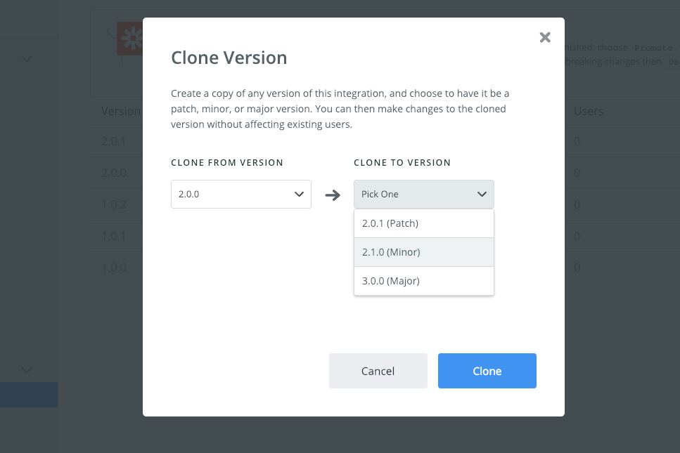 Clone Zapier integration