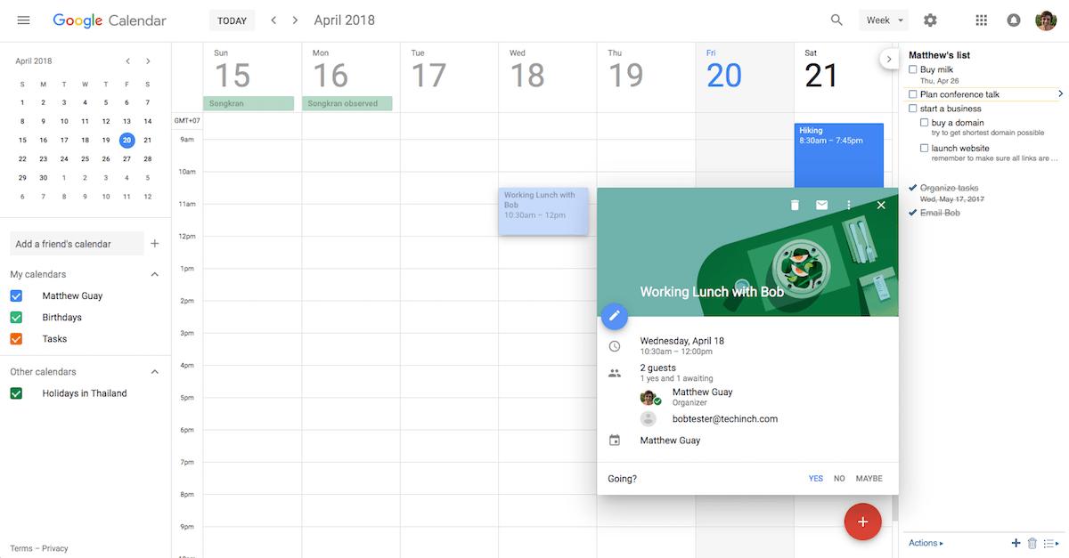 Google Calendar Screenshot Examples & Demo Videos | Zapier