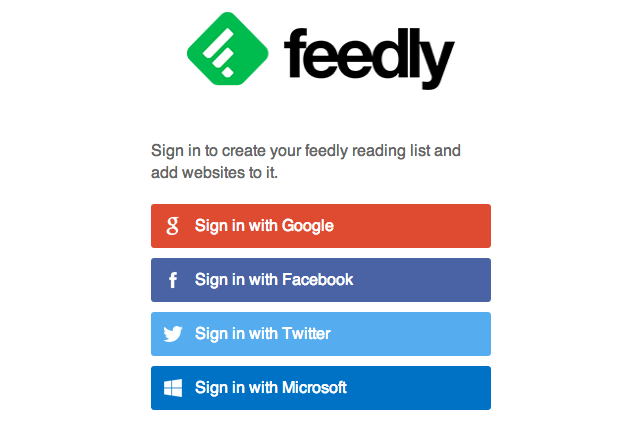 Sign into feedly.