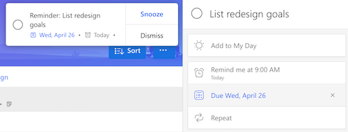 Microsoft To-Do Notification