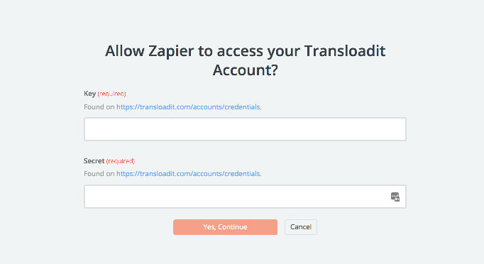 Transloadit API Key