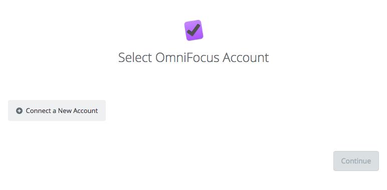 Select Omnifocus Account