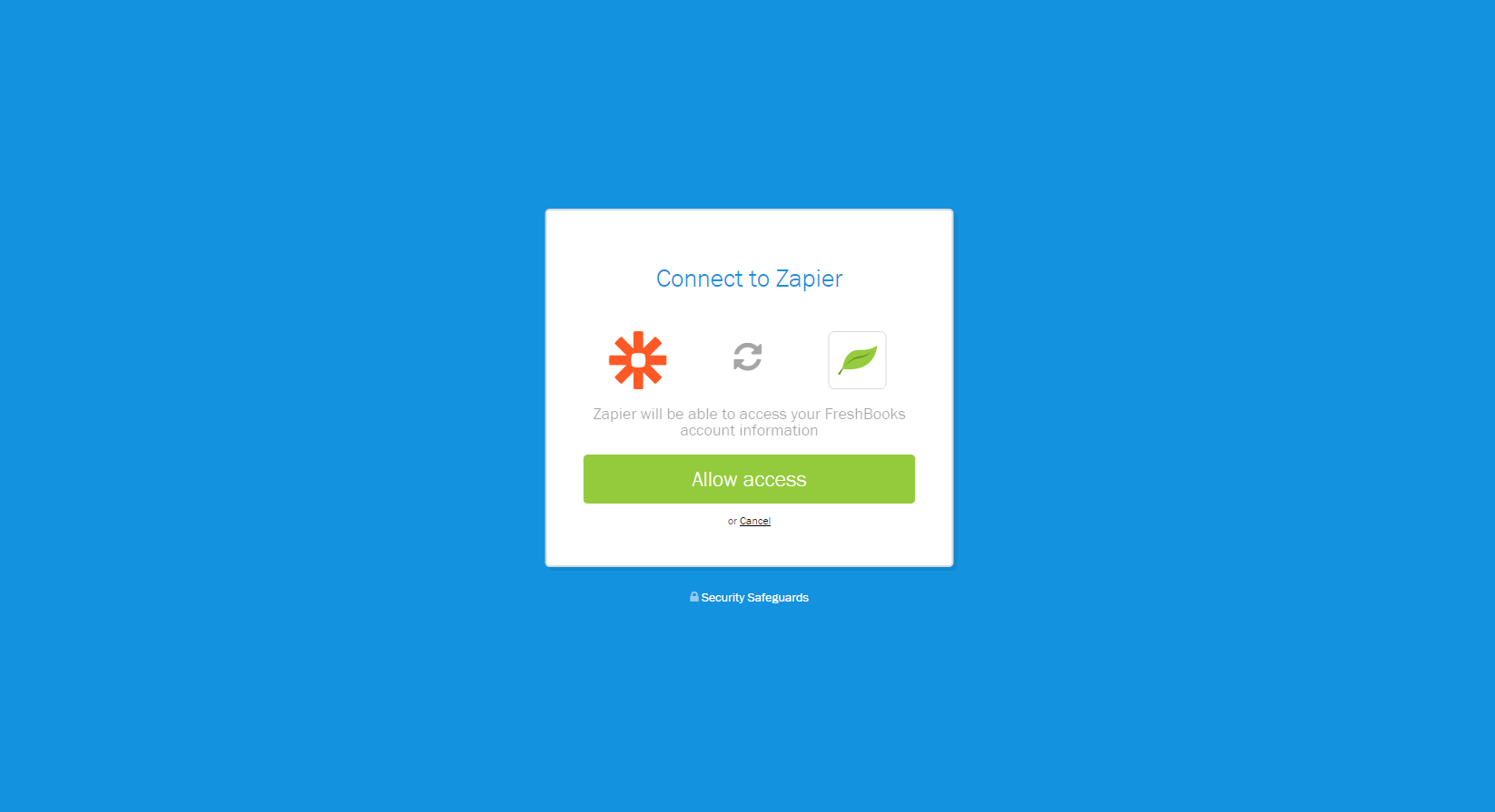 Authorize FreshBooks New on Zapier