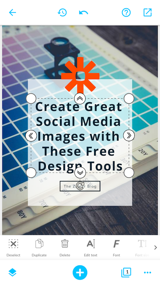 Desynger is a mobile app that lets you design polished social media images