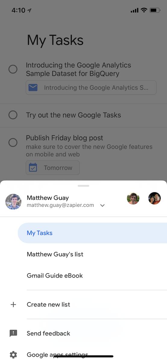 Google Tasks for iOS