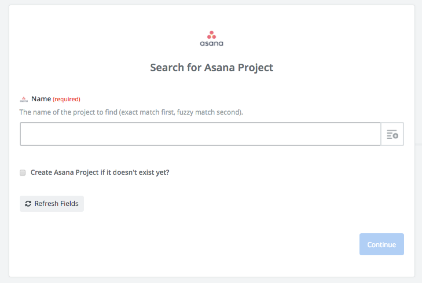 Project Management Search Options