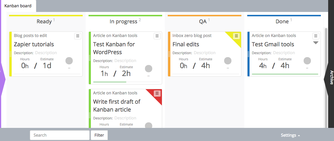 Kanban for WordPress screenshot