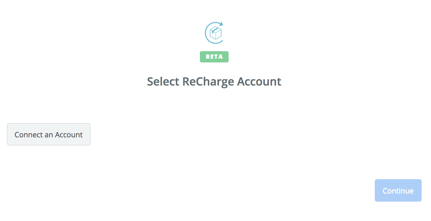 Click to connect ReCharge