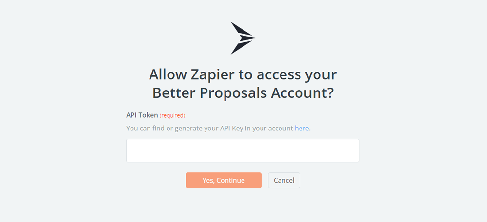 Better Proposals API Key
