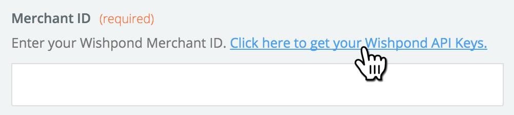 Wishpond API Key Link in APP account