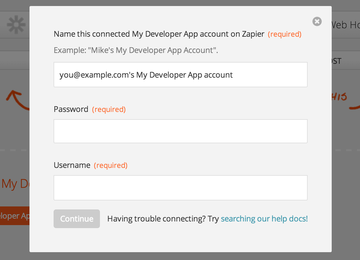 auth fields for user