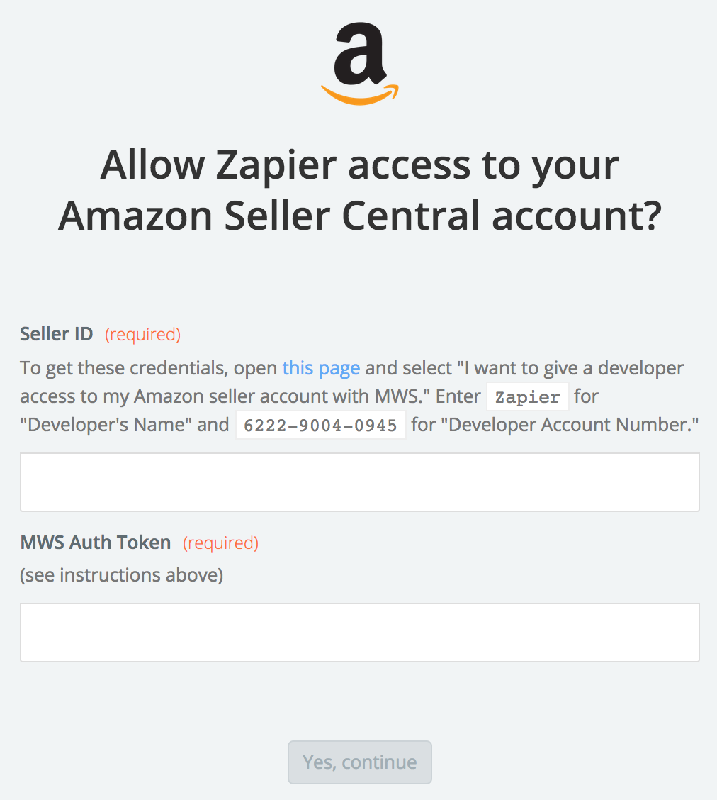 Amazon Seller Central API Key