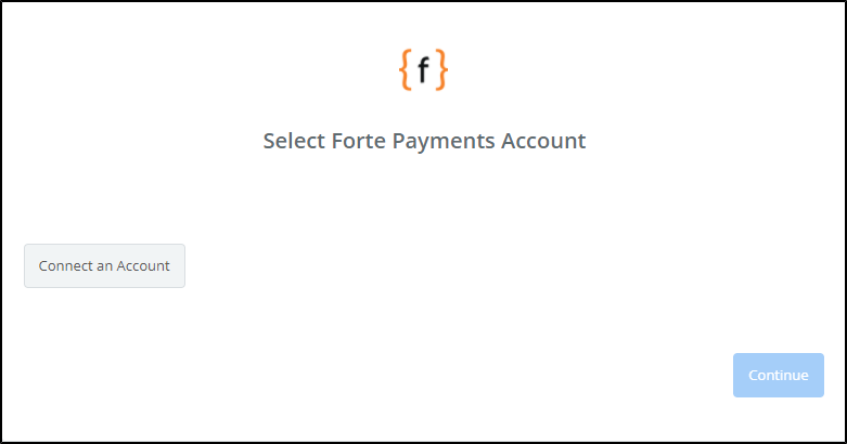 Click to connect Forte Payments