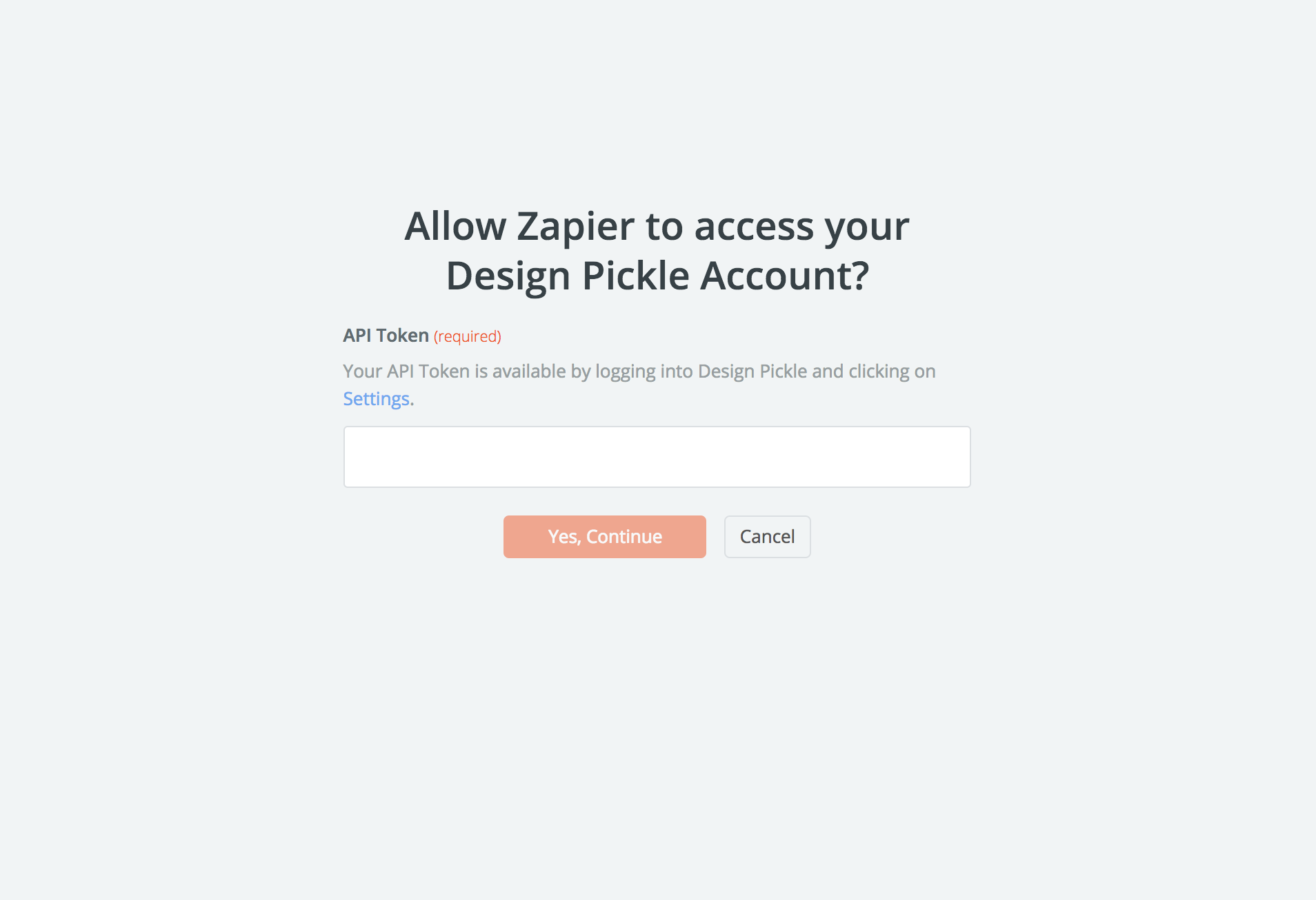 Design Pickle API Key